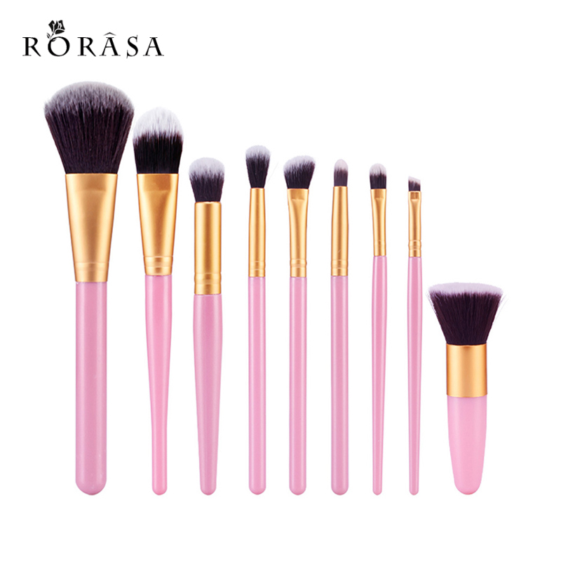 9Pcs Professional Makeup Brushes Set Beauty Cosmetic maquiagem Eyeshadow Lip Powder Face Pinceis Tools Kabuki Kwasten Brush Kits кисти для макияжа kabuki brush 100% 27 pinceis maquiagem makeup brushes