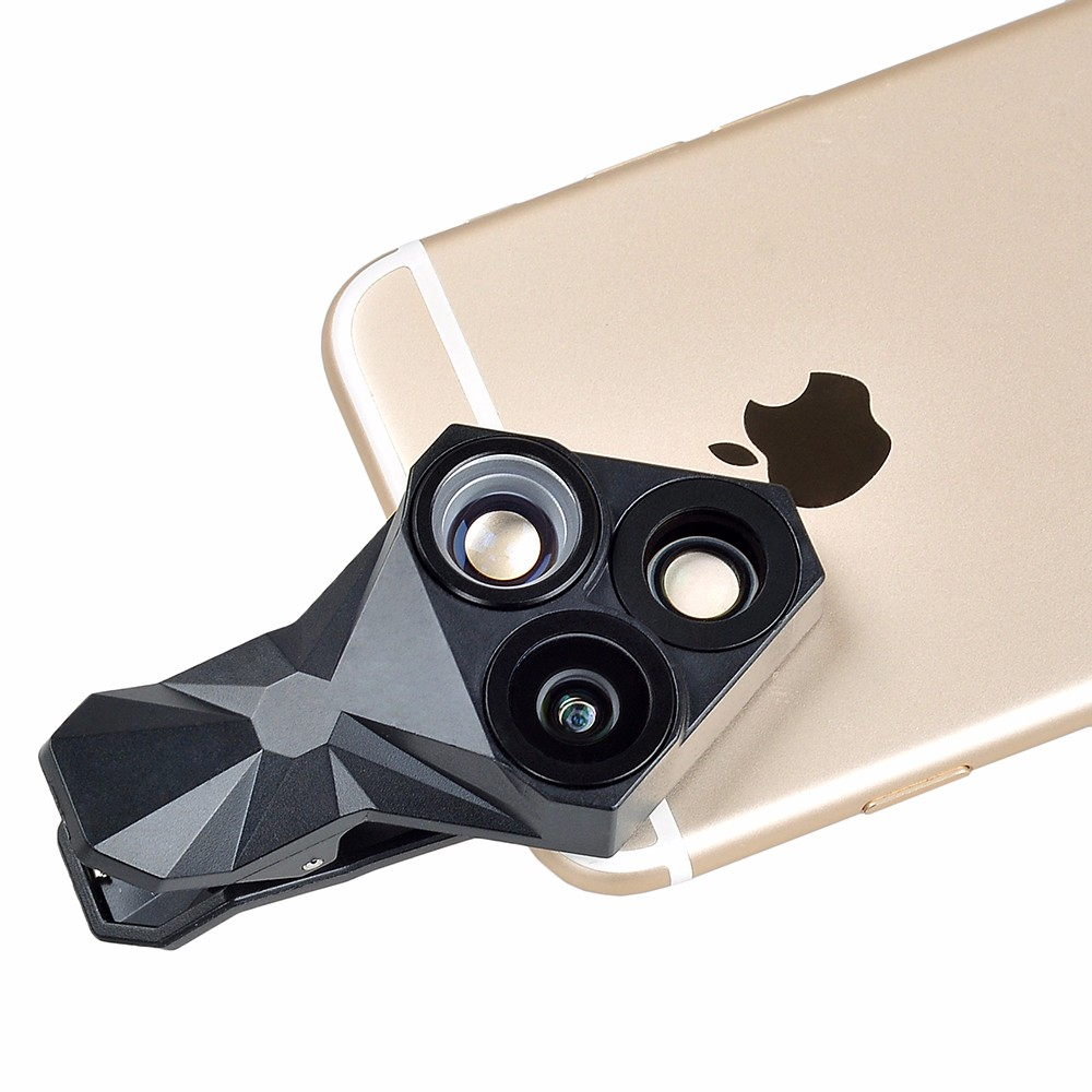 APEXEL arrival Camera Lens Kit 3 in 1 Fisheye Lens Wide Angle Macro mobile phone Lens Kit for iPhone Android Xiaomi APL-YT3 10