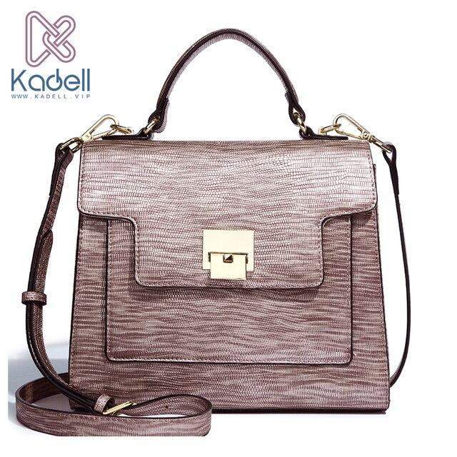 Kadell Women Leather Handbags Famous Brand Women Messenger Bags Casual Shoulder Bag High Quality Crocodile Bolsa Saco Flap Bag