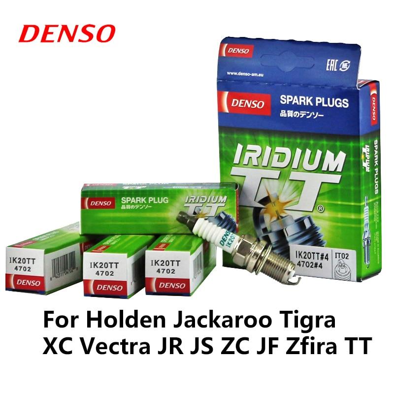 4 pièces/ensemble DENSO voiture bougie pour Holden Jackaroo Tigra XC Vectra JR JS ZC JF Zfira TT Iridium Platinum IK20TT