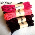 Mr.Niscar 10 Pair Oval Shoelaces Sport Casual Midline Colored Shoe Laces 100cm 120cm 150cm Polyester Shoe String Laces