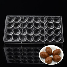 3D Policarbonato Chocolate Moldes Para Hornear Herramientas de Los Pasteles De Plástico Huevo de Chocolate Del Molde Del Chocolate Del Molde de Cocina Para Hornear Suministros
