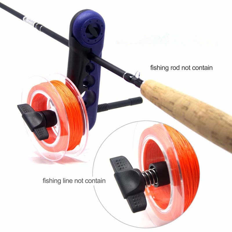 Portable Aluminum Fishing Line Winder Reel Spool Spooler Tackle Tool Suction Cup Sea Carp Fishing Tools and Accessories