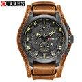 Curren mens relógios top marca de luxo relógios de pulso masculino relógio de couro dos homens analógico quartz militar assista relogio masculino 8225