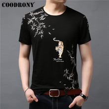 COODRONY Casual T Shirt Men Chinese Painting Short Sleeve T-Shirt Summer O-Neck Cotton Tee Homme Mens T-Shirts S95045