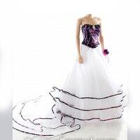 sweetheart muddy girl camo 2 piece wedding dresses 2017 vestidos de noiva custom make free shipping