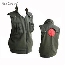 Naruto Cosplay Costume Japanese Anime Ninja Coat shinobi Kakashi Cosplay  Cartoon Green Vest For Show Man Fancy Adult