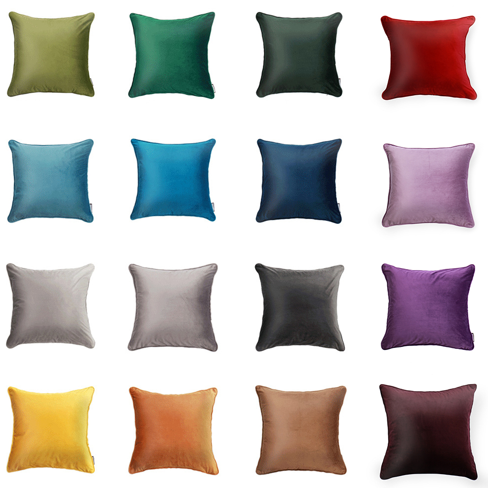 Y JIANG Solid Velvet Home Decorative Pillow Cover Case Super Soft Cushion Cover For Sofa 45 45cm 60 60cm 2018 NEW Fashion in Cushion Cover from Home Garden