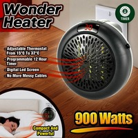 900 W Wonder Heater Pro portátil práctico calentador de pared enchufe Digital calentador eléctrico ventilador de aire caliente radiador hogar máquina