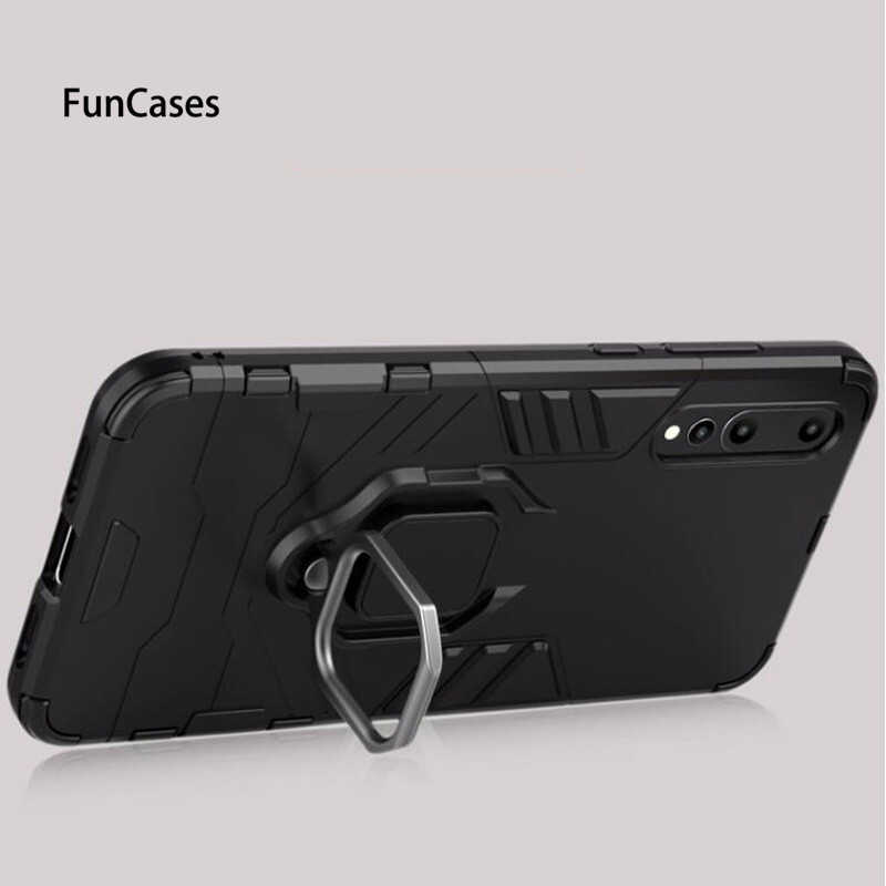 For Huawei P Smart 2019 Case P20 Pro Lite Mate 20 Pro Lite P30 Pro Lite Stand Holder Metal Ring Magnetic Back Armor Cover Cases