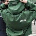 Хип-хоп уличной городской одежды kpop одежда kanye west box логотип толстовка 3in 1 Vetements polizei витой обратимым толстовки топ