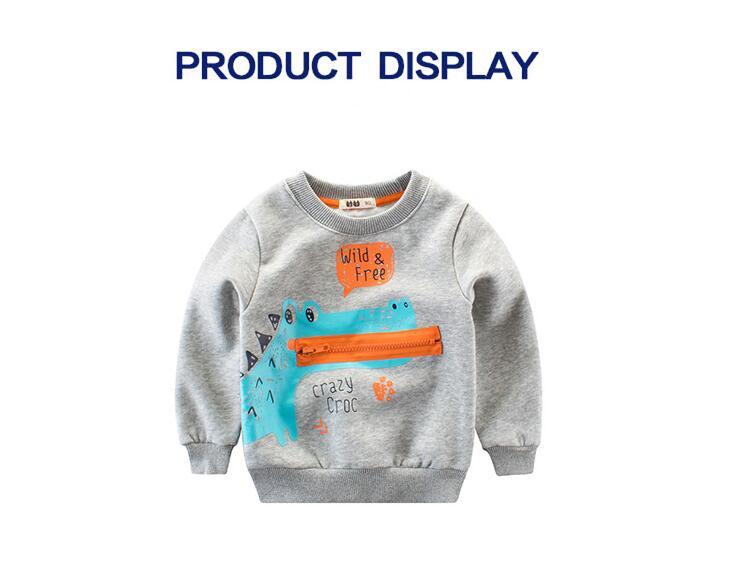 Baby Girls Sweatshirt New Years Kids Long Sleeve Tops Cotton costumes For boy T-shirts Hoodies Children Clothing 2-7T