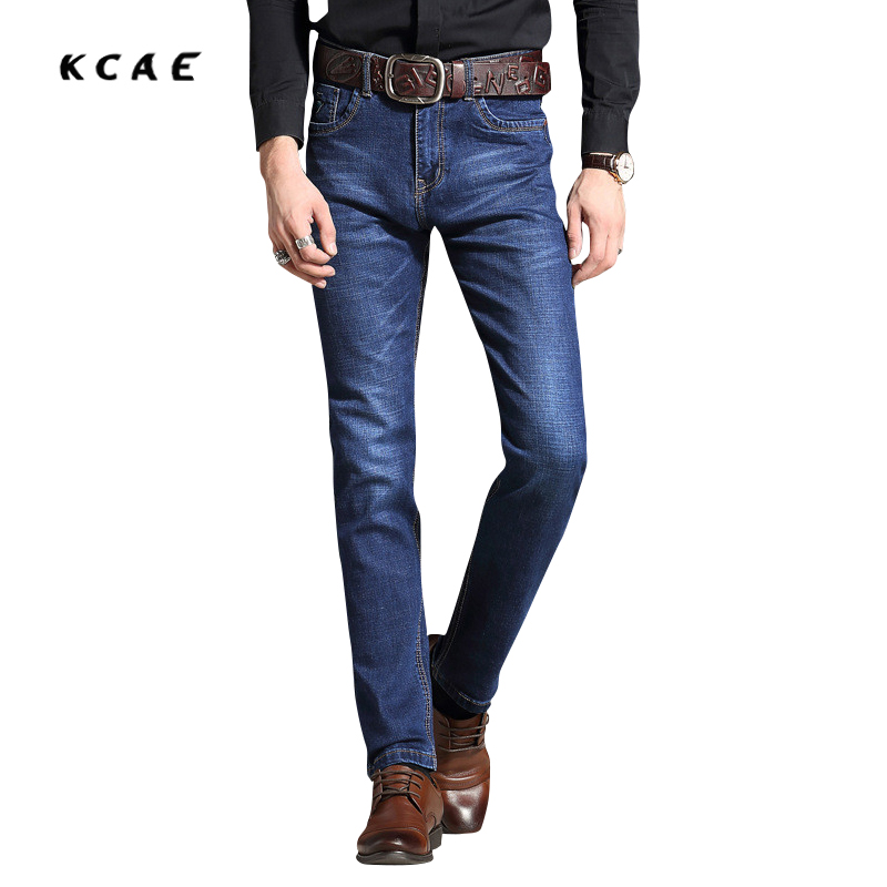 Spring and Summer New Men 's Jeans Straight Waist Men' s Business Jeans Casual Pants Trouser Large Size 40 42