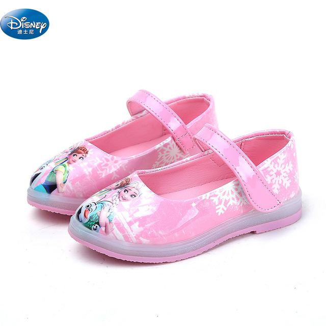 6cc0b93acc US $13.18 |Disney frozen new girls sandals with LED light 2018 3D leather  shoes Cartoon shoes Europe size 26 30-in Sandals from Mother & Kids on ...