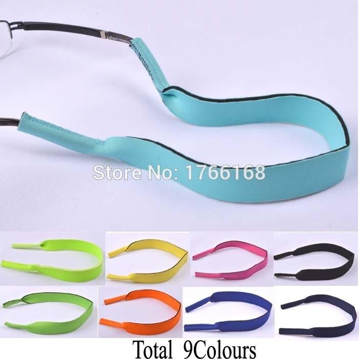 50pcs/lot Top Quality Neoprene Sunglasses <font><b>Glasses</b></font> Outdoor Sports <font><b>Band</b></font> Strap <font><b>Head</b></font> <font><b>Band</b></font> Floater Cord Eyeglass Stretchy holder