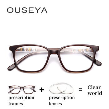 talla 40 0af19 8b153 Gafas ópticas Retro de acetato para mujer Vintage astigmatismo Retro lentes  de transición clásicos gafas finas para PC # F1703