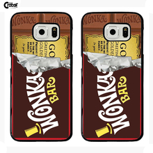 Willy Wonka Chocolate Bar hard Plastic mobile Phone Case Cover For Iphone 5 5S 5C SE