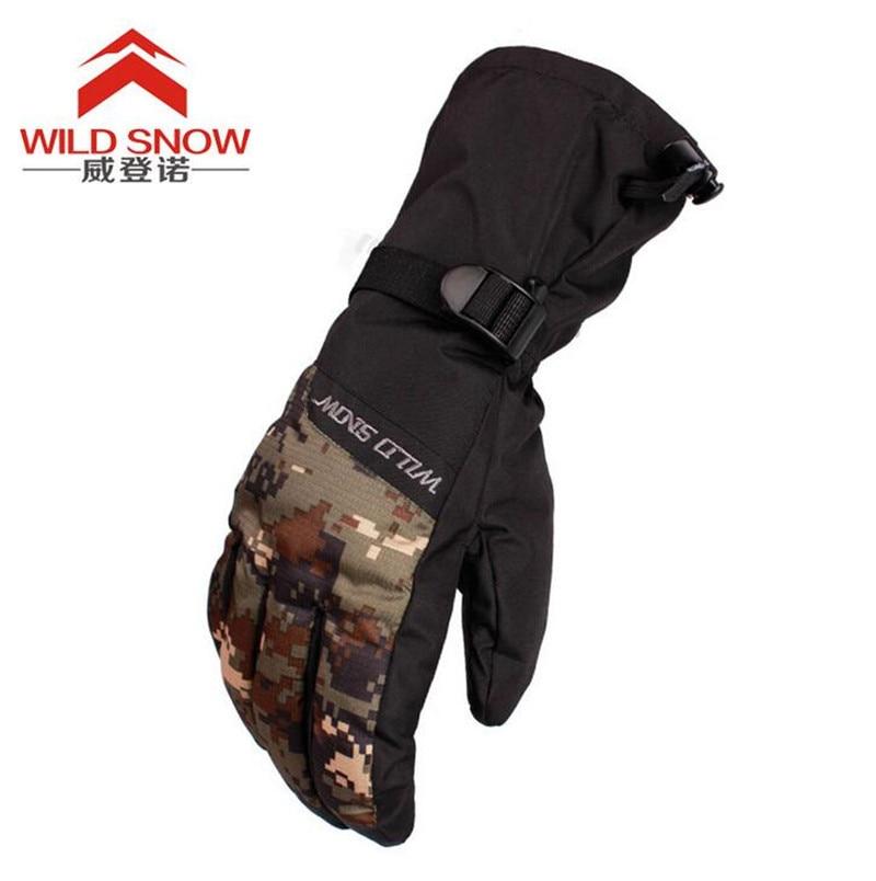 WILD SNOW Men Women Ski Gloves Snowboard Gloves Snowmobile Motorcycle Riding Winter Gloves Windproof Waterproof Unisex Snow Glov in Skiing Gloves from Sports Entertainment