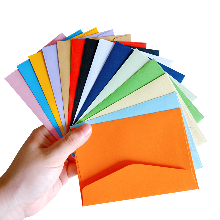 200pcs/lot  New Cute Vintage Candy Color Series DIY Multifunction Wedding Invitation Envelope Christmas Gift Envelope