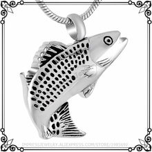 IJD9236 Hot sale Stainless steel Cremation Jewelry Necklace Great female,Wholesale the fish Women&Man Accessaries Cremation Urn