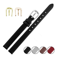Hot Sale Colorful Ultra Thin Genuine Leather Watch Strap For Women Whole 12 14 16 18