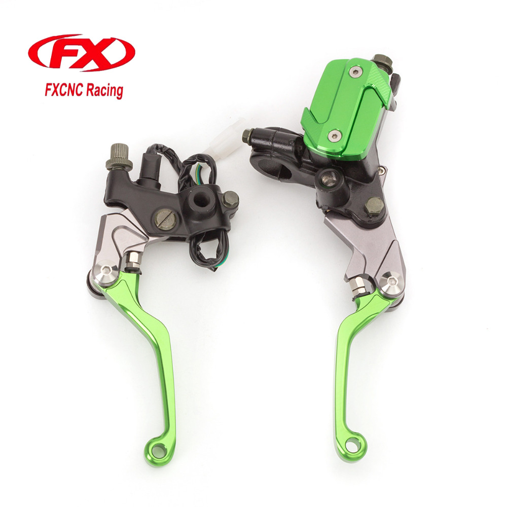 FX CNC 7/8 50-550cc Dirt Pit Bike Motocross Brake Clutch Lever Master Cylinder Reservoir For Honda Rebel 250 CMX250C CBR250R cnc 7 8 for honda cr80r 85r 1998 2007 motocross off road brake master cylinder clutch levers dirt pit bike 1999 2000 2001 2002