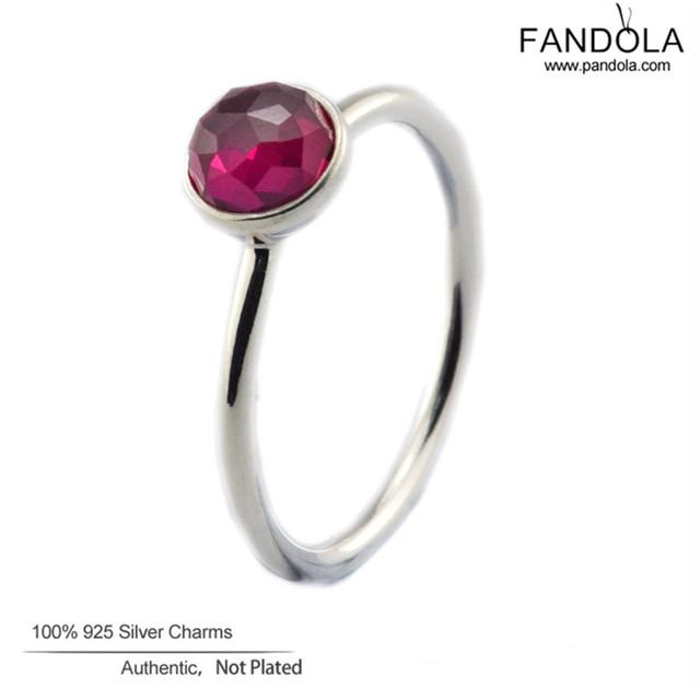 2016 Novo Esterlina-Prata-Julho De Jóias Anéis Para As Mulheres 925 Prata Rubi Gota Anel Fine Jewelry FLR102 (7)