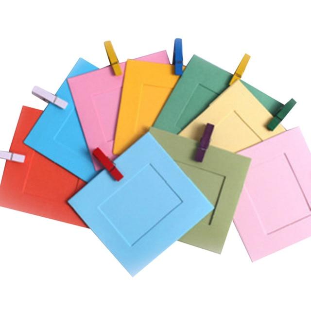 10 Pcs Campuran Warna Bingkai Foto Panas Menjual Hadiah Kreatif Diy Hiasan Dinding Kertas