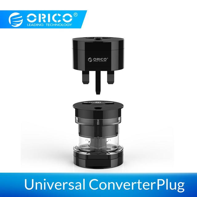 ORICO Universal Plug Electrical Adapter Portable Power Socket Outlet All in One Travel Converter Worldwide Use for US/UK/EU/AU