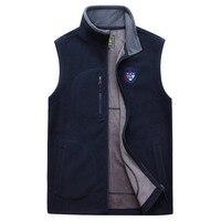 ICPANS Autumn Winter Fleece Softshell Men's Vests Warm Zip Casual Waistcoat Mens Sleeveless Jacket Outwear Jacket Male Clothing