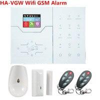 English French Menu HA VGW Wifi Alarm GSM Smart Home Alarm System Automation Burglar With App Control