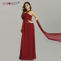 Plus Size Evening Dresses Ever Pretty EP09816 One Shoulder Ruffles Special Occasion Weddings Guest Party Gowns Robe De Soiree Evening Dresses