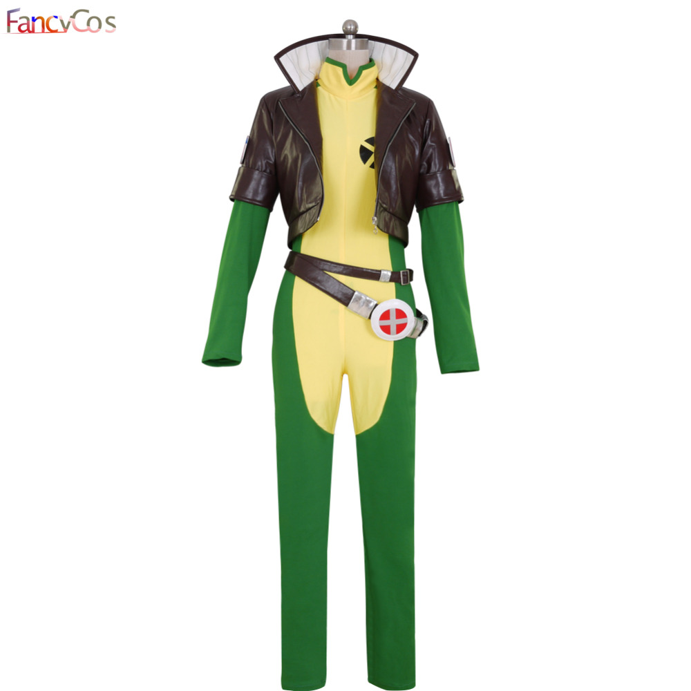Superhero X men X-men Rogue Cosplay Costume Jacket Jumpsuit anime Custom Made Comics Full Set