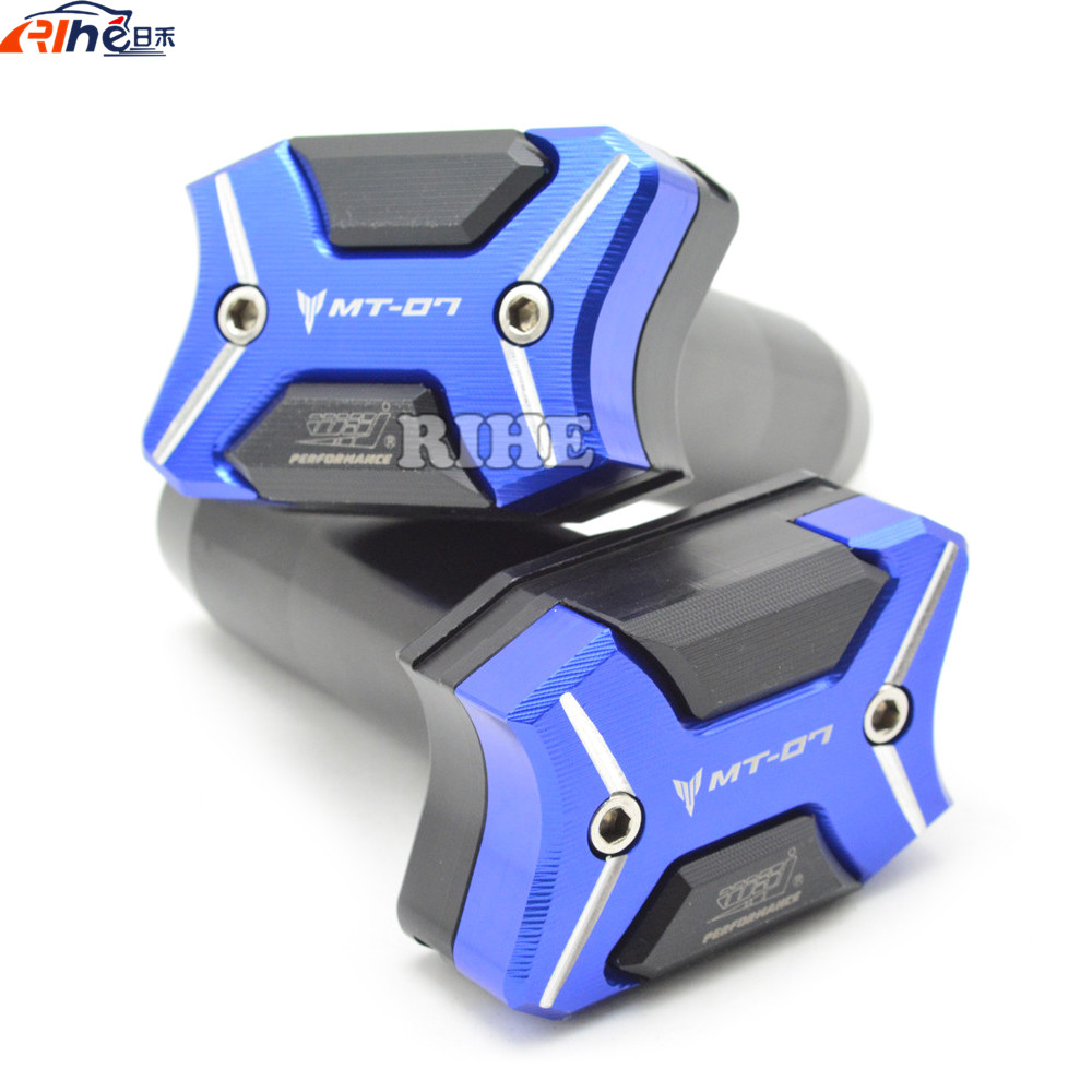 Motorcycle cnc Aluminum Slider Anti Crash Pads Engine Case Sliders Protector For Yamaha MT-07 MT07 FZ-07 FZ07 2014 2015 2016 for yamaha mt 07 fz 07 mt07 fz07 2014 2016 motorcycle accessories cnc aluminum engine protector guard cover frame slider blue