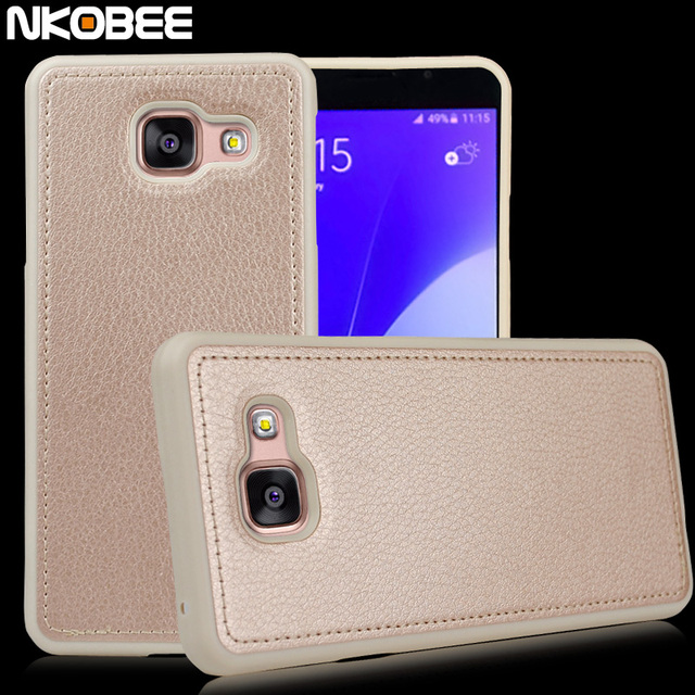 competitive price c9951 d238f US $4.99 |For Samsung Galaxy A3 2016 Case Silicon For Samsung J5 2016 A5  Case Leather For Samsung Galaxy A3 2016 Case J5 Cover-in Fitted Cases from  ...