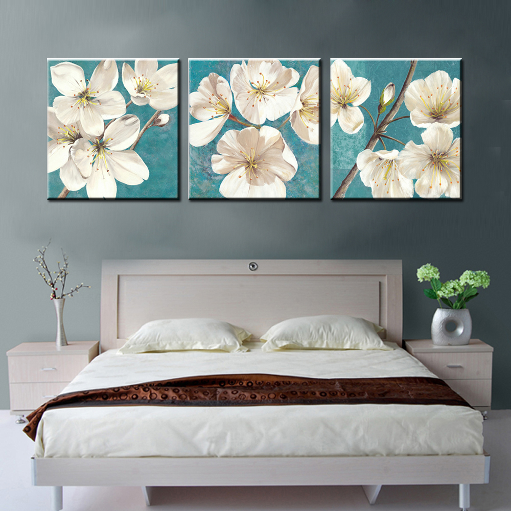 3 Piece Decorative Picture Panels Prints Abstract Canvas Wall Art Flower Modern Painting Set For Living Room Pictures In Calligraphy
