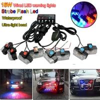 16W Wire Control Super Power LED Strobe flash led warning light Car Working light DRL Strobe Police Fireman Caution pilot Lamp