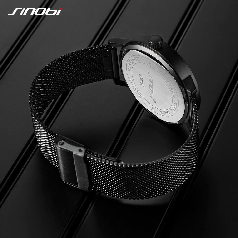 Watches Men SINOBI Brand Rotate Creative Men Sport Watches Men's Quartz Clock Man Casual Military Waterproof Wrist Watch Relogio