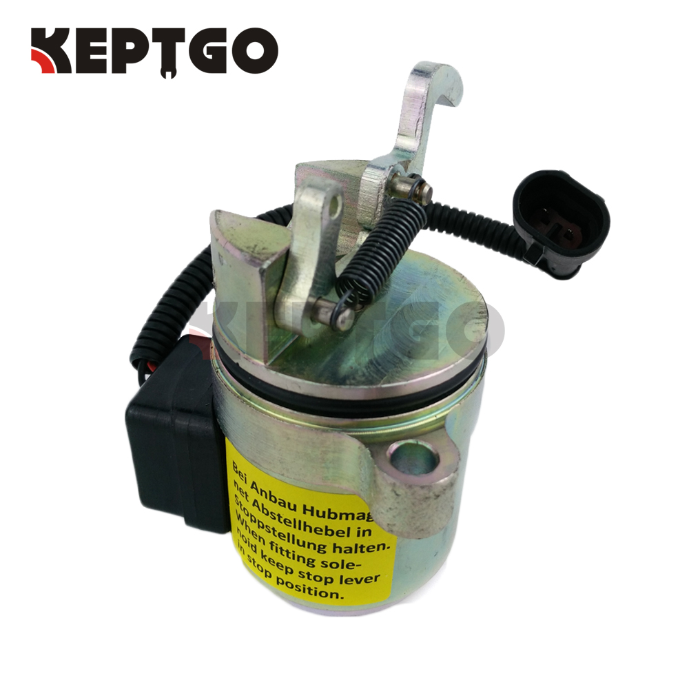 Fuel Shut Off Solenoid 6686715 For Bobcat 863 864 873 883 Fit Deutz Kubota Wiring Diagram 0428 7116 04287116 7583 04287583