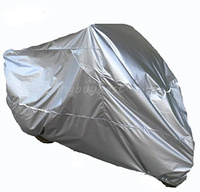 XXXL Silver Waterproof Motorcycle Cover For Harley Davidson Street Glide Electra Glide Ultra Classic FLHTCU Road King Touring