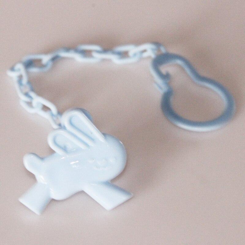 1 шт., Детские зажимы для соски, забавные соски-прорезыватели, аксессуары для сосок, держатель для соски с цепочкой, устойчивый к падению ремень - Цвет: Blue Rabbit