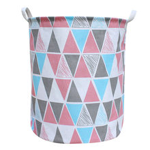 NEW Laundry Basket Foldable Bag Cloth Organizer Laundry Bag Picnic Basket Large Bags Print corbeille a linge(China)