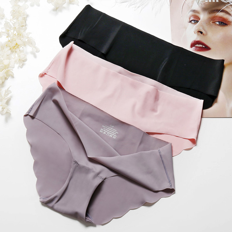 Fashion Seamless   Panties   Women Underwear Female Comfort Intimates Women Low-Rise Briefs 8 Colors Lingerie   Panties   Drop Shipping