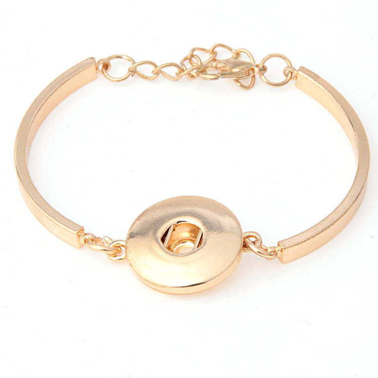 Snap Chunk Chain Bracelet Diy Women Ginger Snap Jewely Fit 18MM Chunk Button