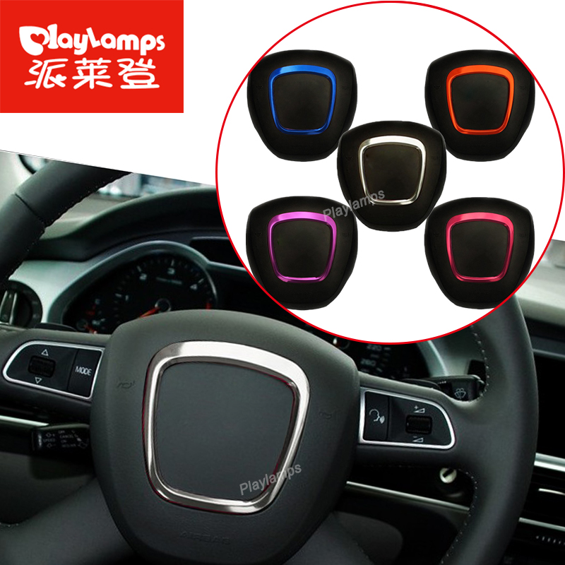Car steering wheel stainless steel wheel decorative circle sequins Cheap Stickers 3D For Audi A4 A5 A6 Q7 Q5 auto <font><b>accessories</b></font>