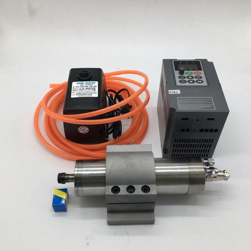 5 5KW 220v ER25 24000rpm 125mm Water Cooled Spindle Motor 5 5kw inverter VFD 75W water