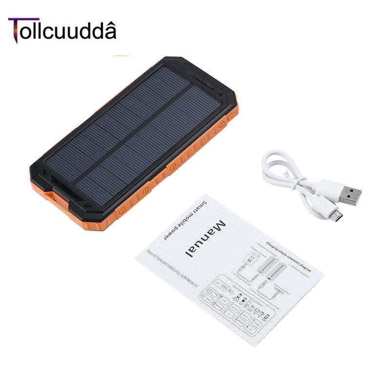 imágenes para Tollcuudda 10000 mAh LHSJ01 Ultra Light Power Bank Batería Externa Portátil de Doble Interfaz USB Cargador Rápido Para El teléfono