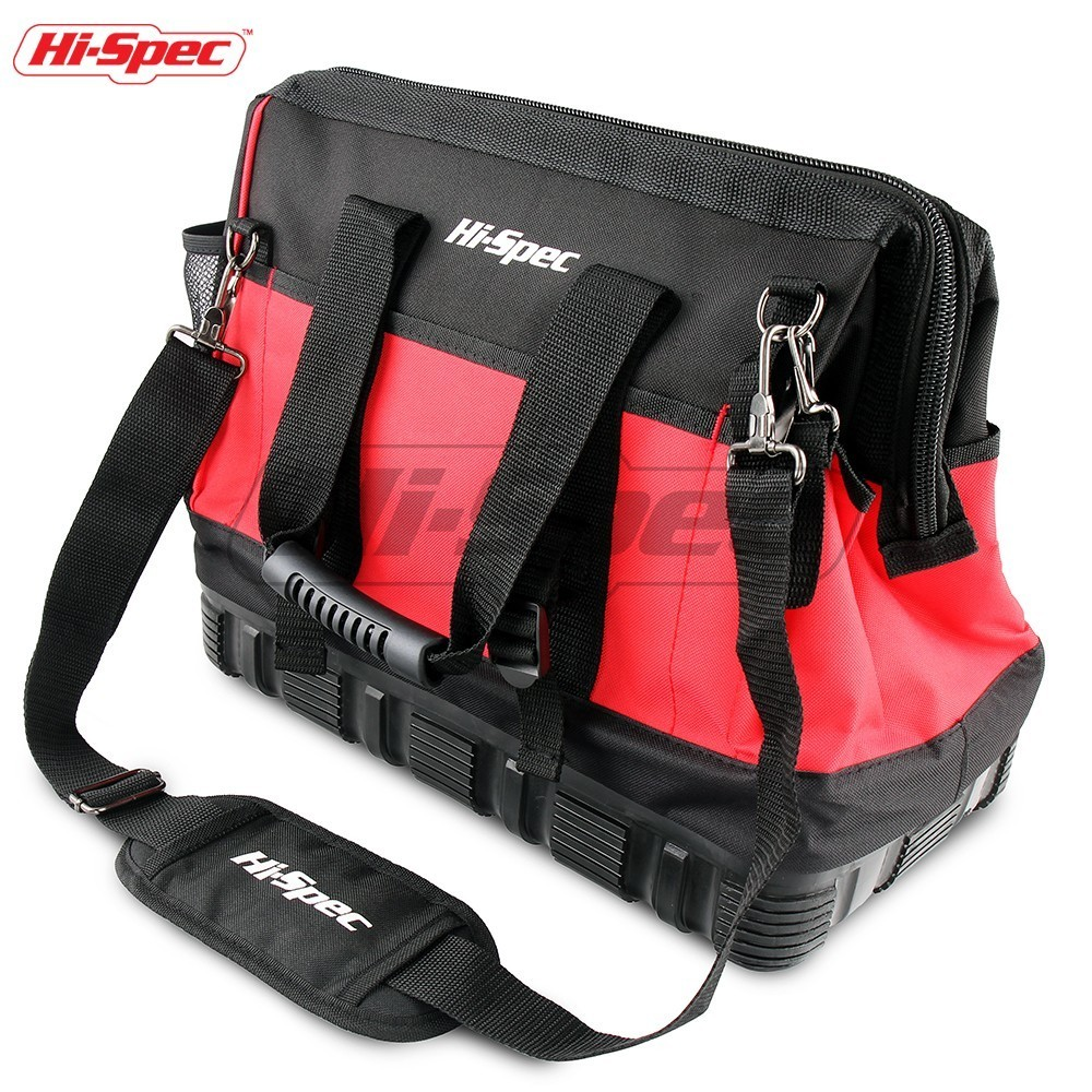 Hi-Spec 16 Inch Waterproof Tool Bag Professional 600D Oxford Cloth Heavy Duty Men Travel Bags Large Capacity Shoulder Bags