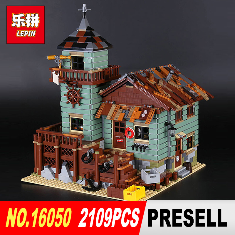 Lepin 16050 2109Pcs Creative MOC Series The Old Finishing Store Set Children Educational Building Blocks Bricks Toys Model 2131 managing the store