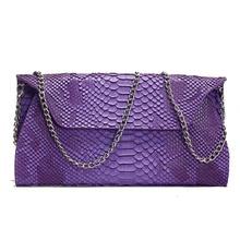 Женская сумка, новинка, женские сумки-мессенджеры, Маленькая женская сумка со змеиным узором, модная сумка на цепочке из натуральной кожи, клатч с крокодиловым узором, сумка на плечо